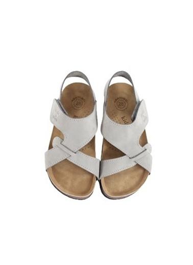 Kids A More Diaz Tek Cırtlı Deri Unisex Çocuk Sandalet  Gri